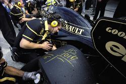 Markeringen op de banden van Ayrton Senna, Lotus 98T Renault