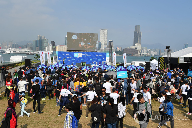 Fans in the fanzone