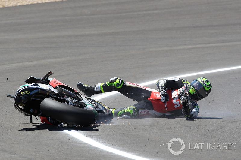 Cal Crutchlow, Team LCR Honda, caída