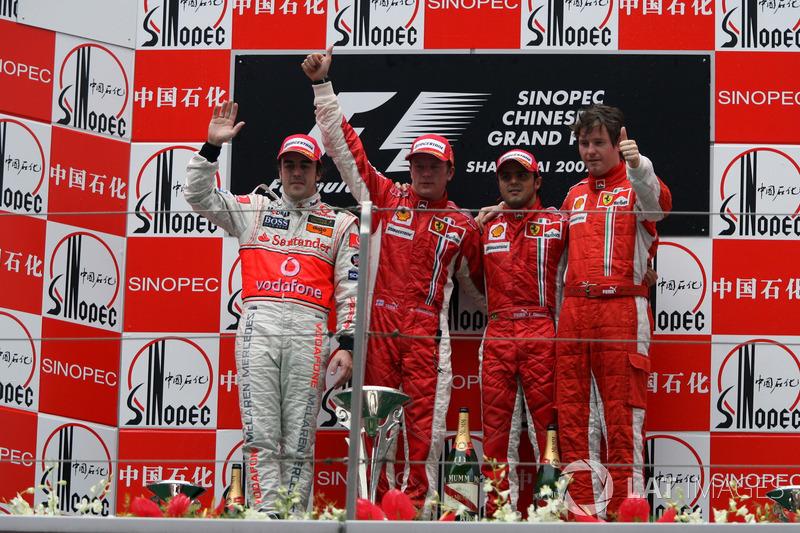 2007. Подіум: 1. Кімі Райкконен, Ferrari. 2. Фернандо Алонсо, McLaren. 3. Феліпе Масса, Ferrari