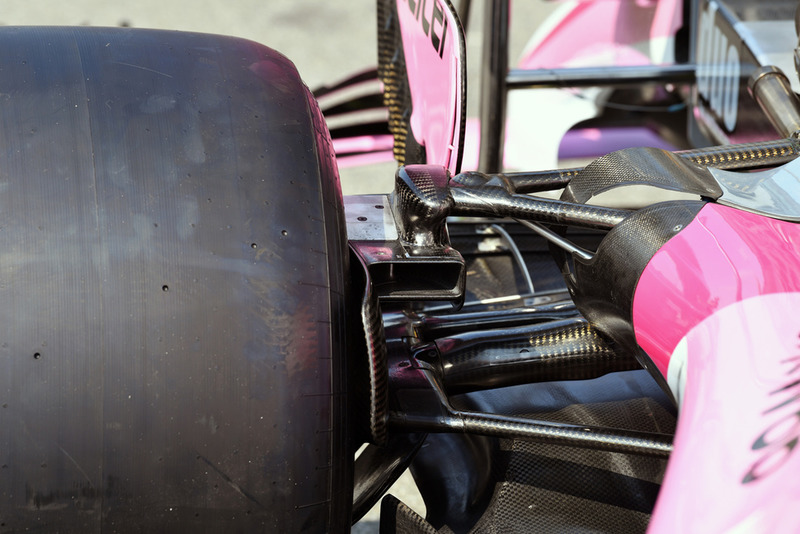 Racing Point Force India VJM11 rear suspension detail