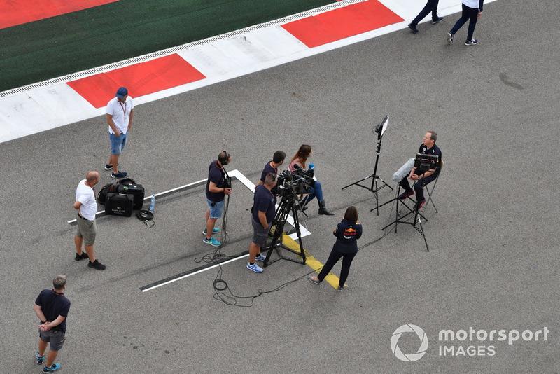 Paul Monaghan, ingénieur en chef de Red Bull Racingest interviewé