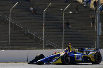 Alexander Rossi, Andretti Autosport Honda, ritorna ai box con un problema a una gomma