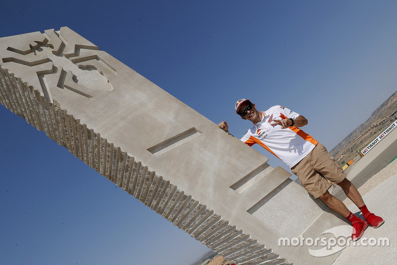 Marc Marquez, Repsol Honda Team at the Marc Marquez monument inauguration