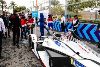 Jose Maria Lopez, GEOX Dragon Racing, Penske EV-3 on the grid