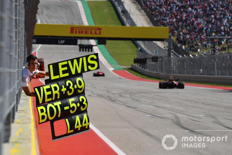 Пит-борд для Льюиса Хэмилтона, Mercedes AMG F1