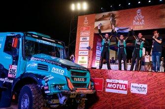 Podio: Petronas Team De Rooy Iveco: Federico Villagra, Adrian Arturo Yacopini, Ricardo Adrian Torlaschi