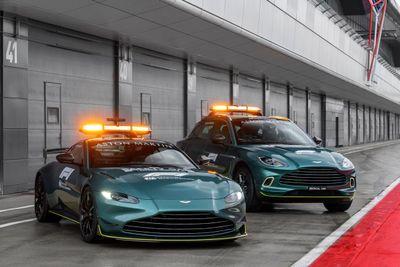 La voiture de sécurité Aston Martin