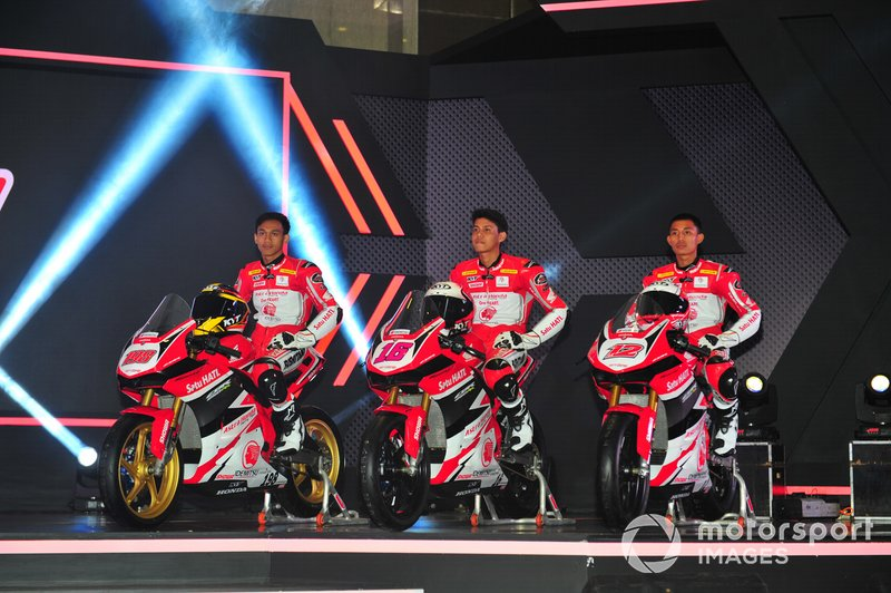 Awhin Sanjaya, Irfan Ardiansyah, Lucky Hendriansya, Astra Honda Racing Team