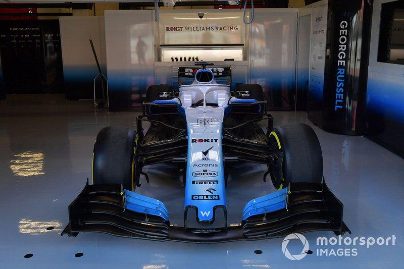 El Williams FW42 en el box