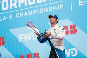 Antonio Felix da Costa, BMW I Andretti Motorsports, celebrates on the podium