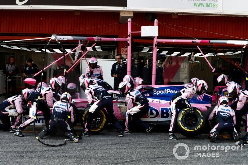 Sergio Perez, Racing Point F1 Team RP19 au stand