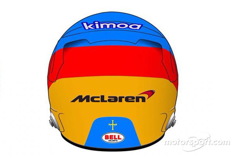 Шлем гонщика McLaren Фернандо Алонсо