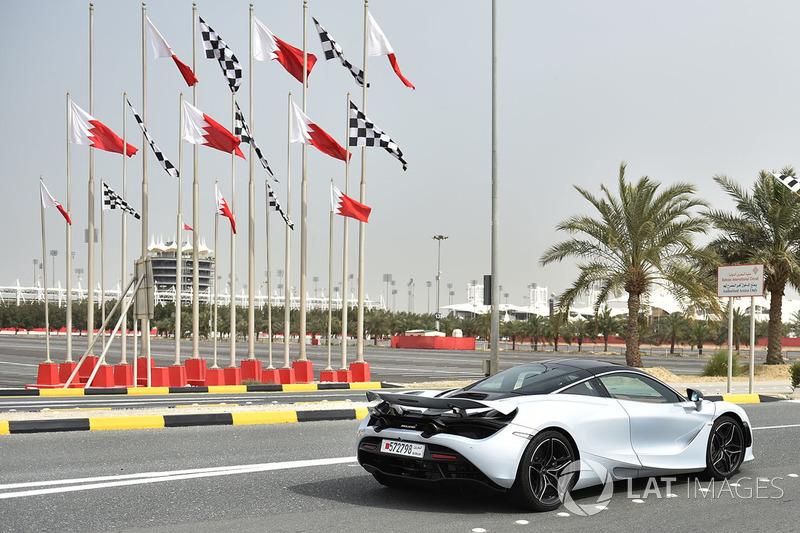 McLaren and flags