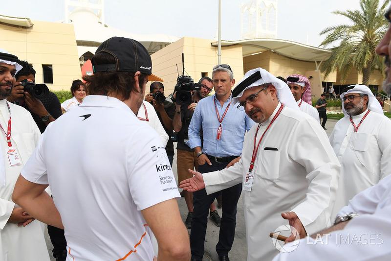Fernando Alonso, McLaren and Crown Prince Shaikh Salman bin Hamad Al Khalifa
