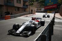 Marcus Ericsson, Sauber C37, leads Charles Leclerc, Sauber C37
