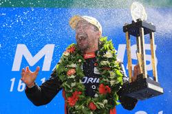 Festeggiamenti sul podio LMP2