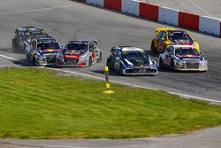 Start action, Andreas Bakkerud, EKS Audi Sport, Timmy Hansen, Team Peugeot Total