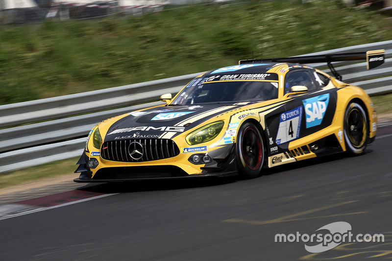 2. #4 Mercedes-AMG Team Black Falcon Mercedes-AMG GT3: Maro Engel, Adam Christodoulou, Manuel Metzger, Dirk Müller