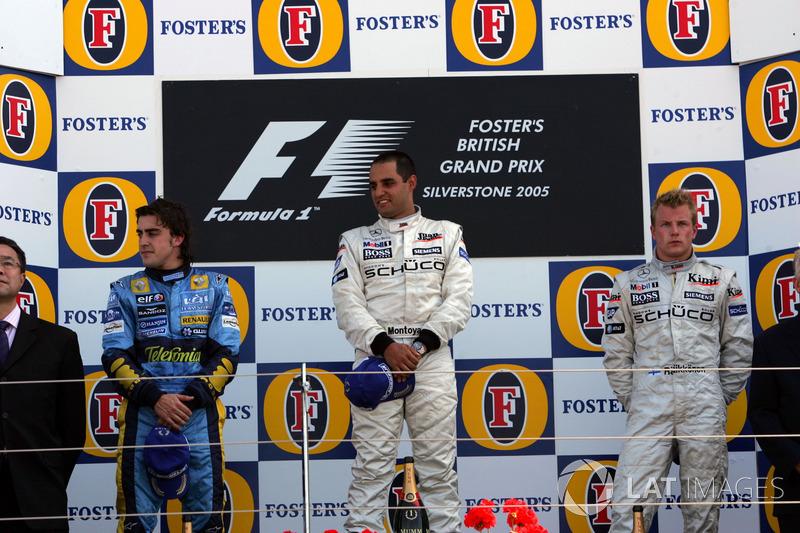 2005: 1. Хуан-Пабло Монтойя, 2. Фернандо Алонсо, 3. Кими Райкконен