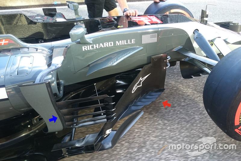 Dérives latérales de la Haas F1 Team VF-17