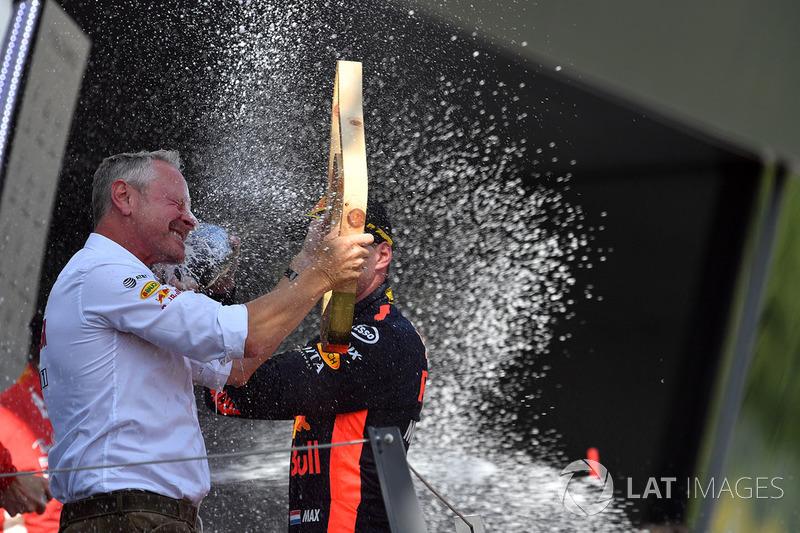 Max Verstappen, Red Bull Racing y Sebastian Jonathan Wheatley, Red Bull Racing Team Manager