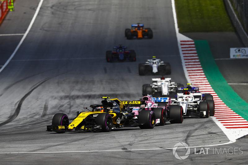 Carlos Sainz Jr., Renault Sport F1 Team R.S. 18, Sergio Perez, Force India VJM11, Charles Leclerc, Sauber C37, Pierre Gasly, Toro Rosso STR13, Marcus Ericsson, Sauber C37