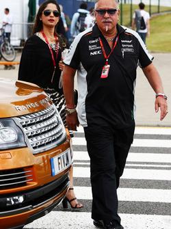 El Dr. Vijay Mallya, dueño del equipo de Sahara Force India F1