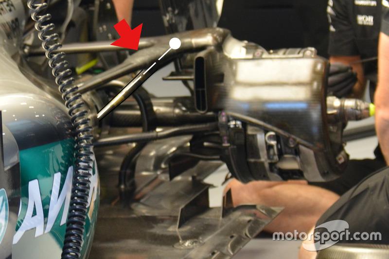 Mercedes AMG F1 W07 Hybrid, Suspension