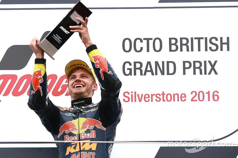 Podium: race winner Brad Binder, Red Bull KTM Ajo