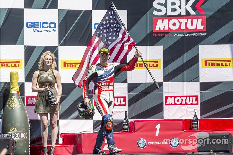Podio: tercer lugar Nicky Hayden, Honda World Superbike Team