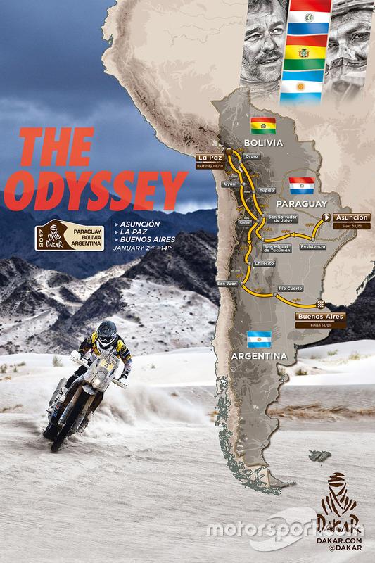 Map of the Dakar 2017 at 2017 Dakar presentation
