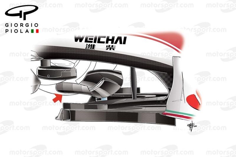 Ferrari SF16-H: Chassis-Winglet in Mexiko
