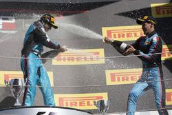 Podium: race winner Arjun Maini, Jenzer Motorsport, third place Alessio Lorandi, Jenzer Motorsport
