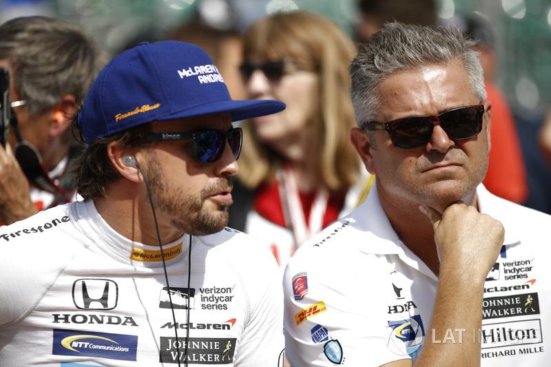 Fernando Alonso, Andretti Autosport Honda, Gil de Ferran