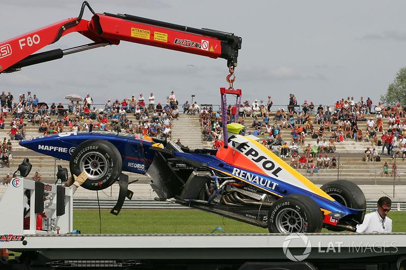 Болід Ернесто Вісо, Racing Engineering, після аварії