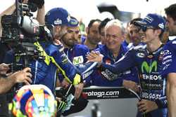 Deuxième place pour Valentino Rossi, Yamaha Factory Racing, victoire pour Maverick Viñales, Yamaha Factory Racing