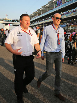 Zak Brown, McLaren Executive Director with Donald Mackenzie, CVC Capital Partners Managing Partner,