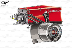 Ferrari F2012 chassis & front suspension detail