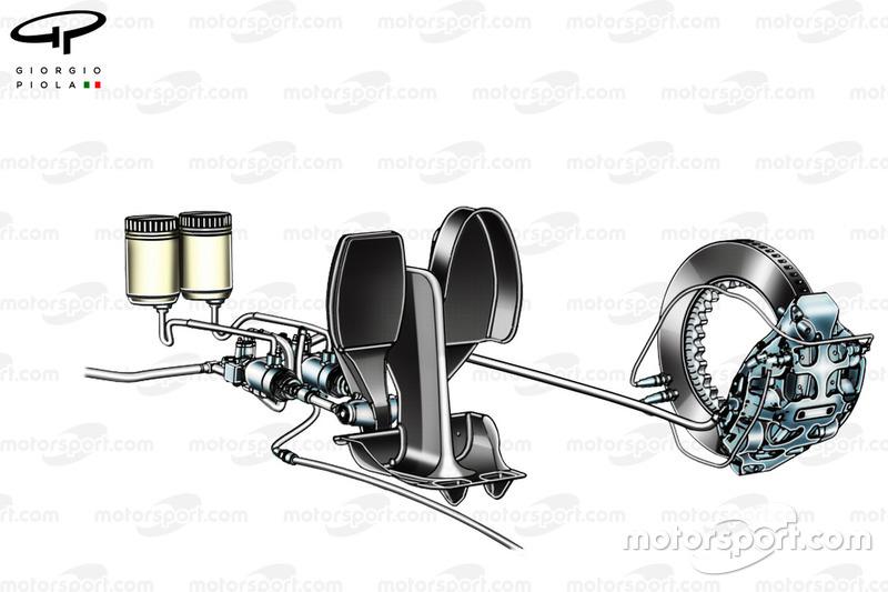 Montage de la pédale de frein, du disque de frein et de l'étrier