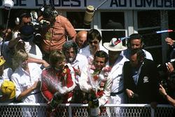 Podium: Jacky Ickx, Derek Bell, Porsche 936/81