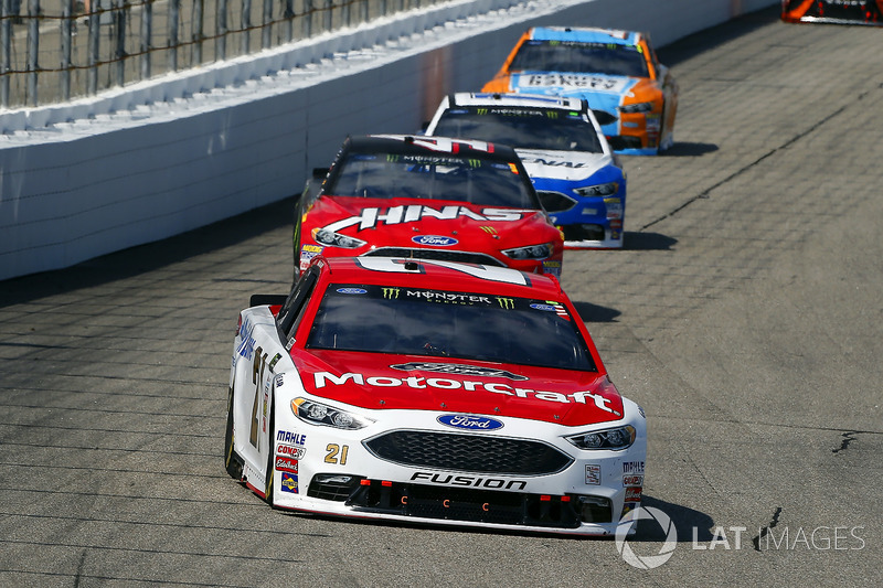 Ryan Blaney, Wood Brothers Racing Ford, c41\, Ricky Stenhouse Jr., Roush Fenway Racing Ford, Clint Bowyer, Stewart-Haas Racing Ford