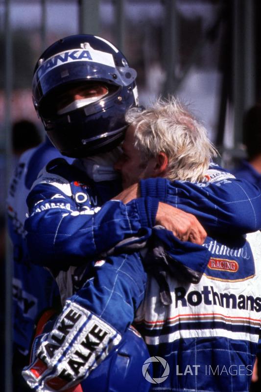 1. Jacques Villeneuve, Williams; 2. Damon Hill, Arrows
