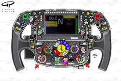 Ferrari SF70H steering wheel, captioned