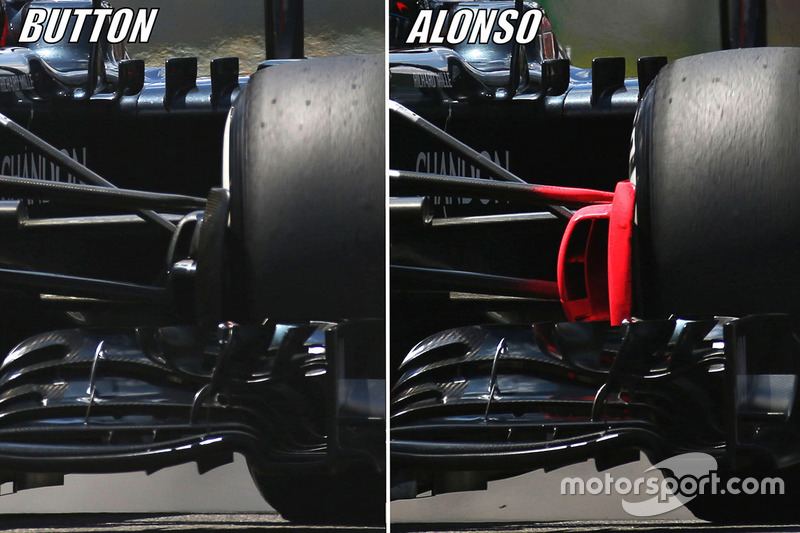 Jenson Button, McLaren MP4-31, Fernando Alonso, McLaren MP4-31 comparison