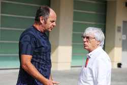 Gerhard Berger, with Bernie Ecclestone