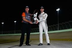 Champion Daniel Suarez, Joe Gibbs Racing Toyota with his crew chief  Scott Graves