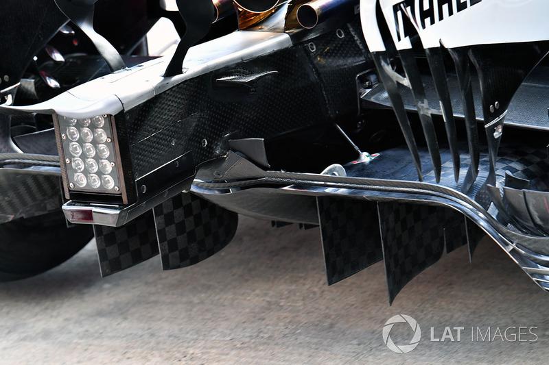 Mercedes AMG F1 F1 W08  rear diffuser detail
