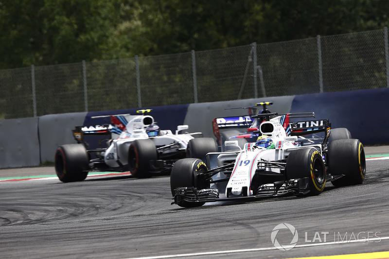 Felipe Massa, Williams FW40, Carlos Sainz Jr., Scuderia Toro Rosso STR12 ve Lance Stroll, Williams FW40