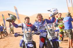 Third place Franco Caimi, winner Xavier de Soultrait